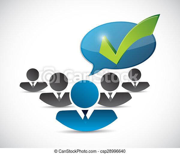customer service team check mark message - csp28996640