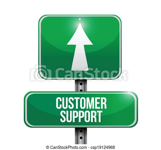 customer support signpost. illustration - csp19124968