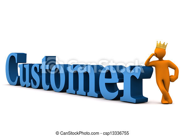 customer with crown orange cartoon character with golden stock rh canstockphoto com clipart customer satisfaction customer clipart png
