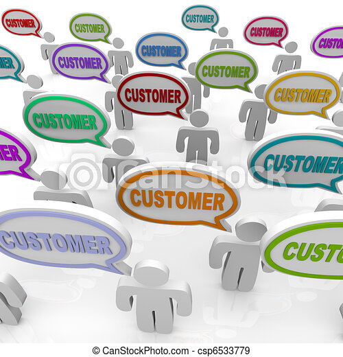 Customers - Large Group of People Talking - csp6533779