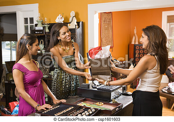 Customers making purchase. - csp1601603