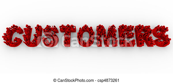 Customers - People on Letters Form Word - csp4873261