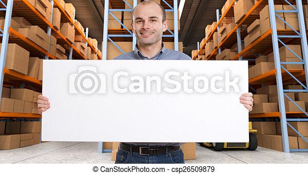Customizable Announcement at warehouse b - csp26509879