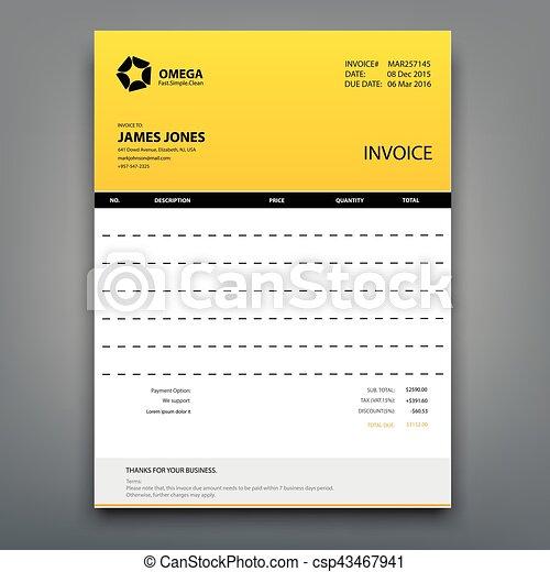 Customizable invoice template layout design vector illustration customizable invoice template layout design csp43467941 maxwellsz
