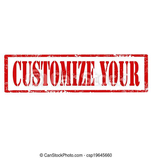 Customize Your-stamp - csp19645660