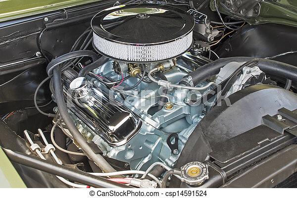 Customized V8 engine compartment - csp14591524