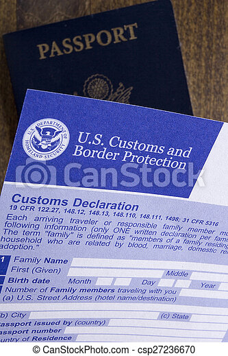 Customs declaration documents for the passage of the visa and customs declaration csp27236670 thecheapjerseys Choice Image