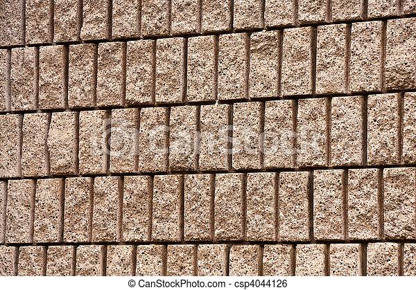 Cut Aggregate Block Wall - csp4044126