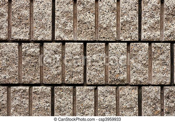 Cut Aggregate Block Wall - csp3959933