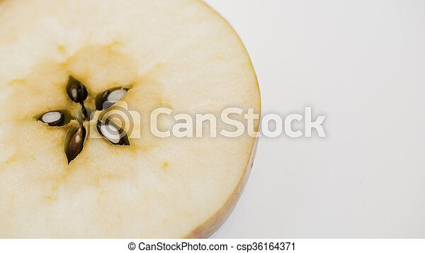Cut apple isolated on white backround - csp36164371