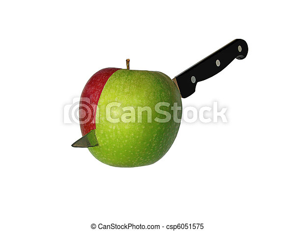 Cut apple isolated - csp6051575