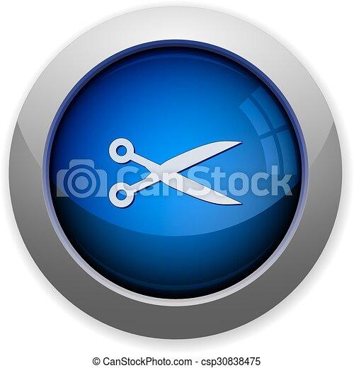 Cut button - csp30838475