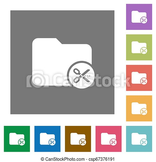 Cut directory square flat icons - csp67376191