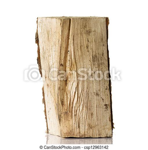 Cut log fire wood from birch-tree. - csp12963142