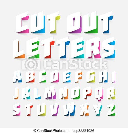 Cut out alphabet letters - csp32281026