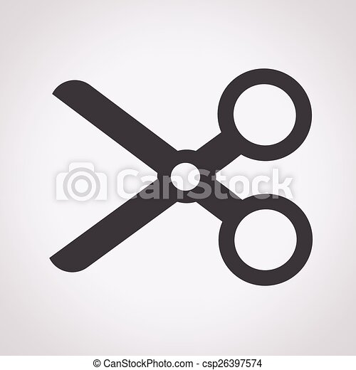 Cut, scissors icon - csp26397574