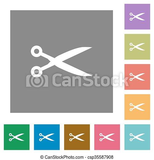 Cut square flat icons - csp35587908