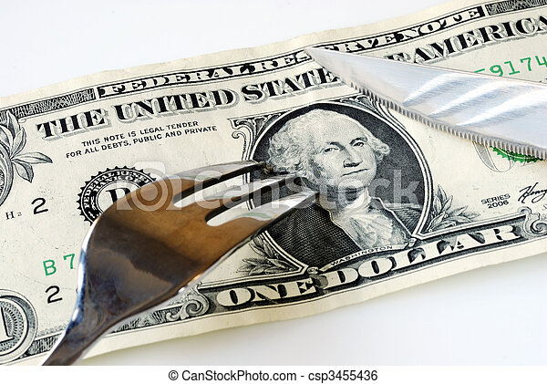 Cut up the expenses to save some money - csp3455436