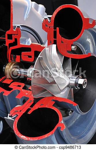 El modelo de un turbocargador - csp9486713
