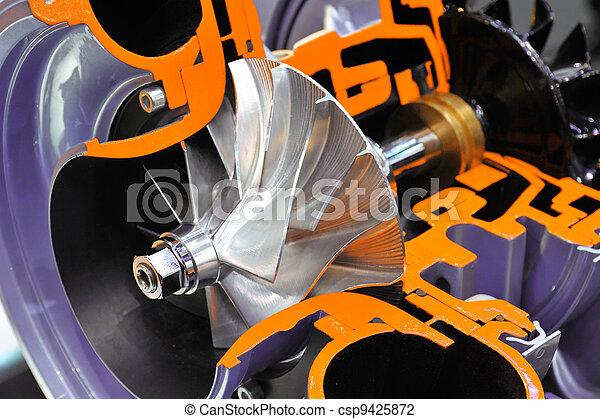 El modelo de un turbocargador - csp9425872