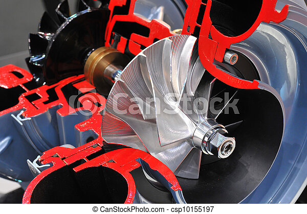 El modelo de un turbocargador - csp10155197