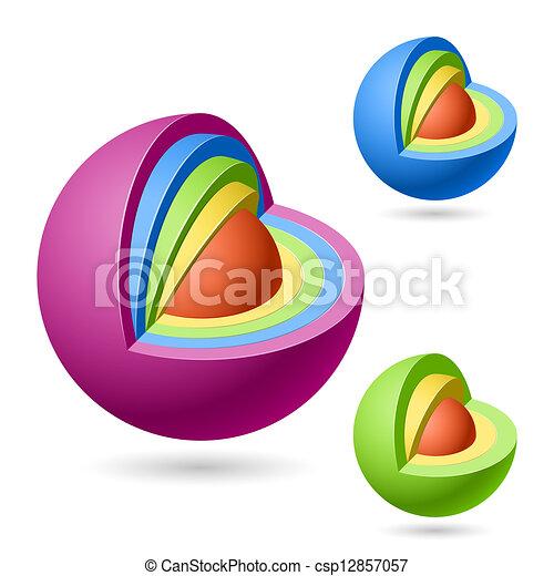 Cutaway spheres - csp12857057