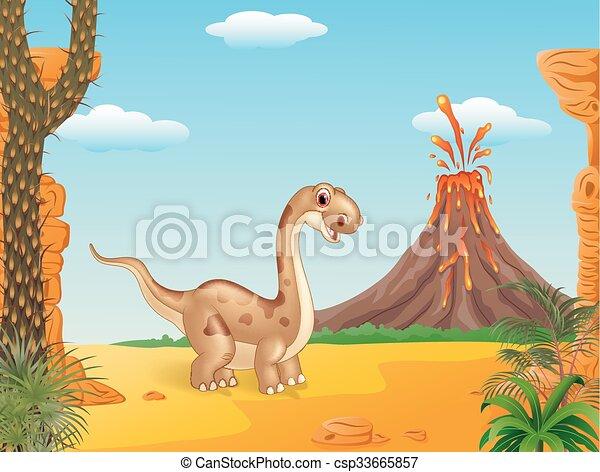 cute, adorável, dinossauro - csp33665857