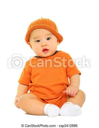 Cute Adorable Baby - csp3412886
