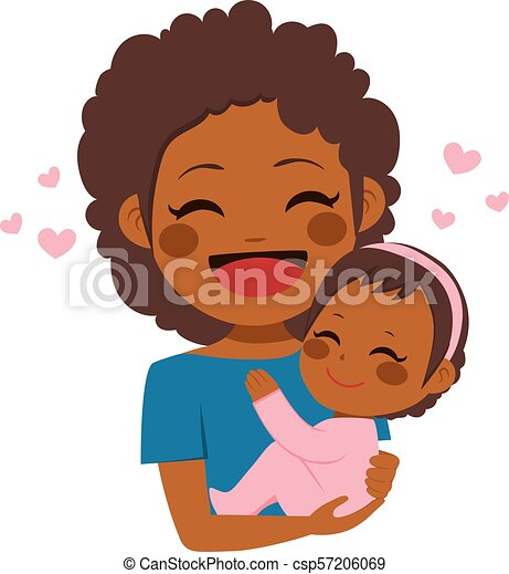 Cute African American Mother Baby Cute African American Mother Holding Her Cute Baby Girl