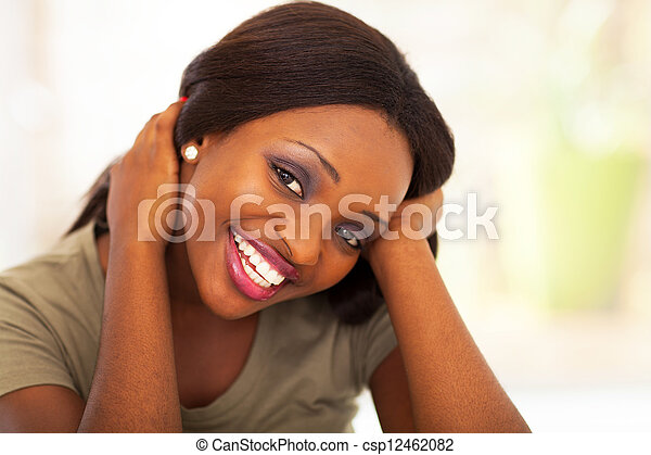 cute african american person woman - csp12462082