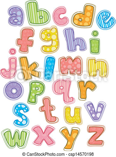 Cute Alphabet Small Letters Illustration Of Cute And Colorful