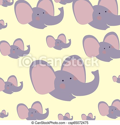 cute and adorable elephants pattern - csp65072475