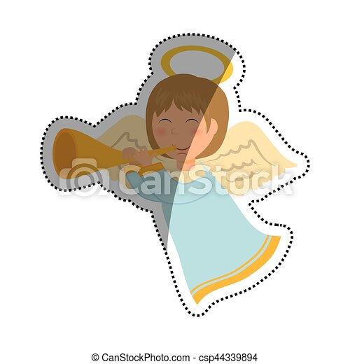 Cute angel cartoon - csp44339894