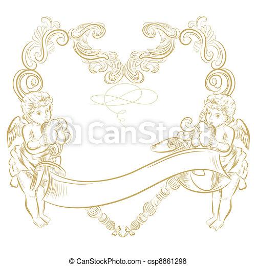 Cute angel frame.