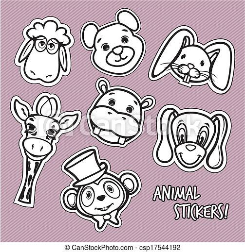 Cute animal card - csp17544192
