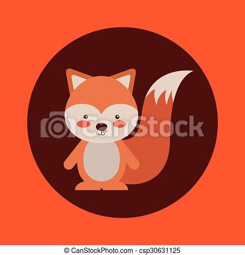 cute animal fall design - csp30631125