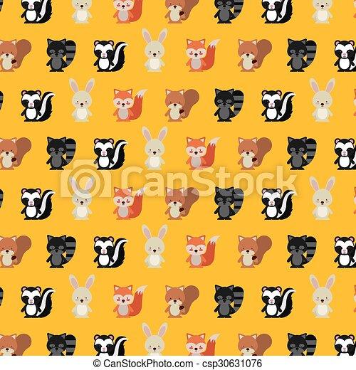 cute animal fall design - csp30631076
