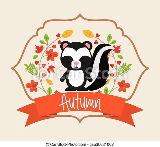 cute animal fall  - csp30631002
