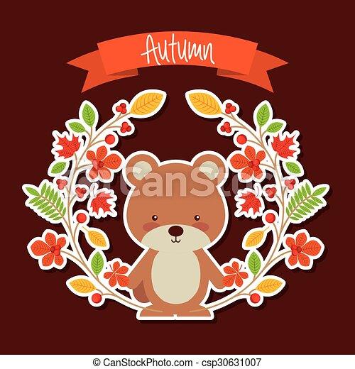 cute animal fall  - csp30631007