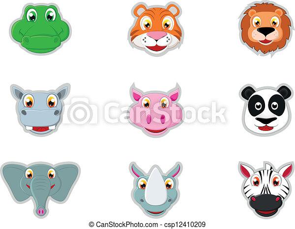 Cute Animal Head Icon - csp12410209