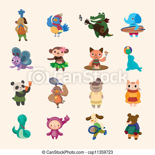 cute animal icon - csp11359723