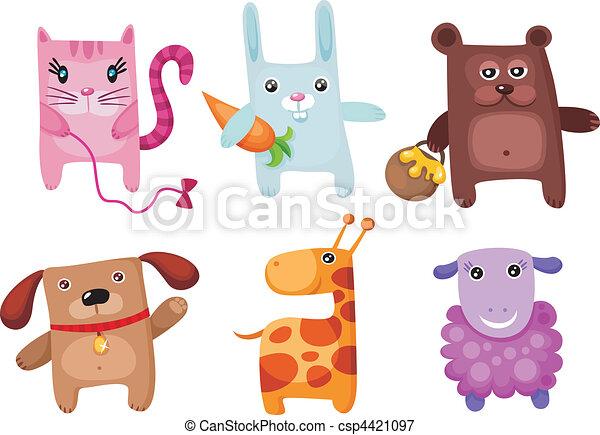 cute animal set - csp4421097