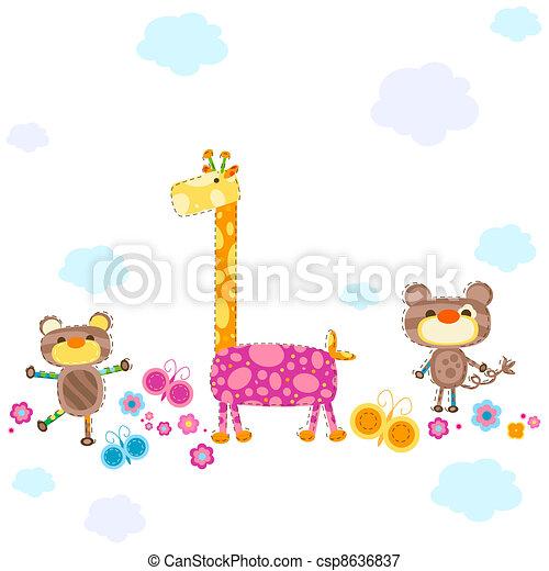 cute animals - csp8636837