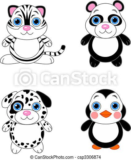Cute animals set 02 - csp3306874