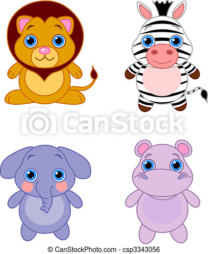cute animals set 04 cute funny baby animals set african animals rh canstockphoto com cute clipart animals cute animals clipart png