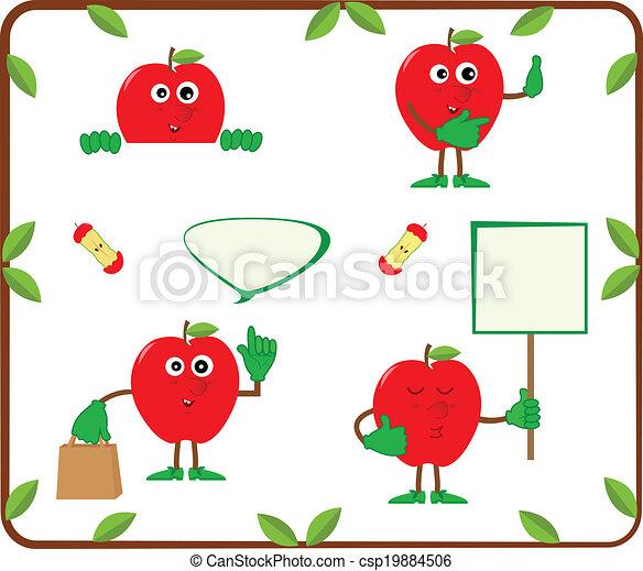 Cute Apples - csp19884506