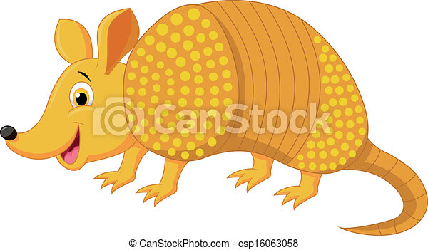 Cute armadillo cartoon  - csp16063058