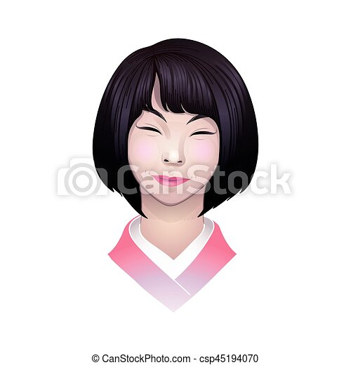 Excellent question asian girl illustration what that