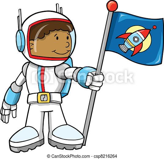 cute astronaut vector illustration art rh canstockphoto com astronaut clipart free astronaut clipart transparent