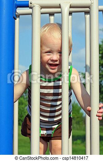 Cute Baby at Playground - csp14810417